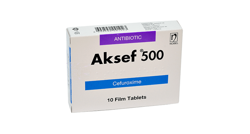 Aksef 500mg 10 Film Coated Tablets